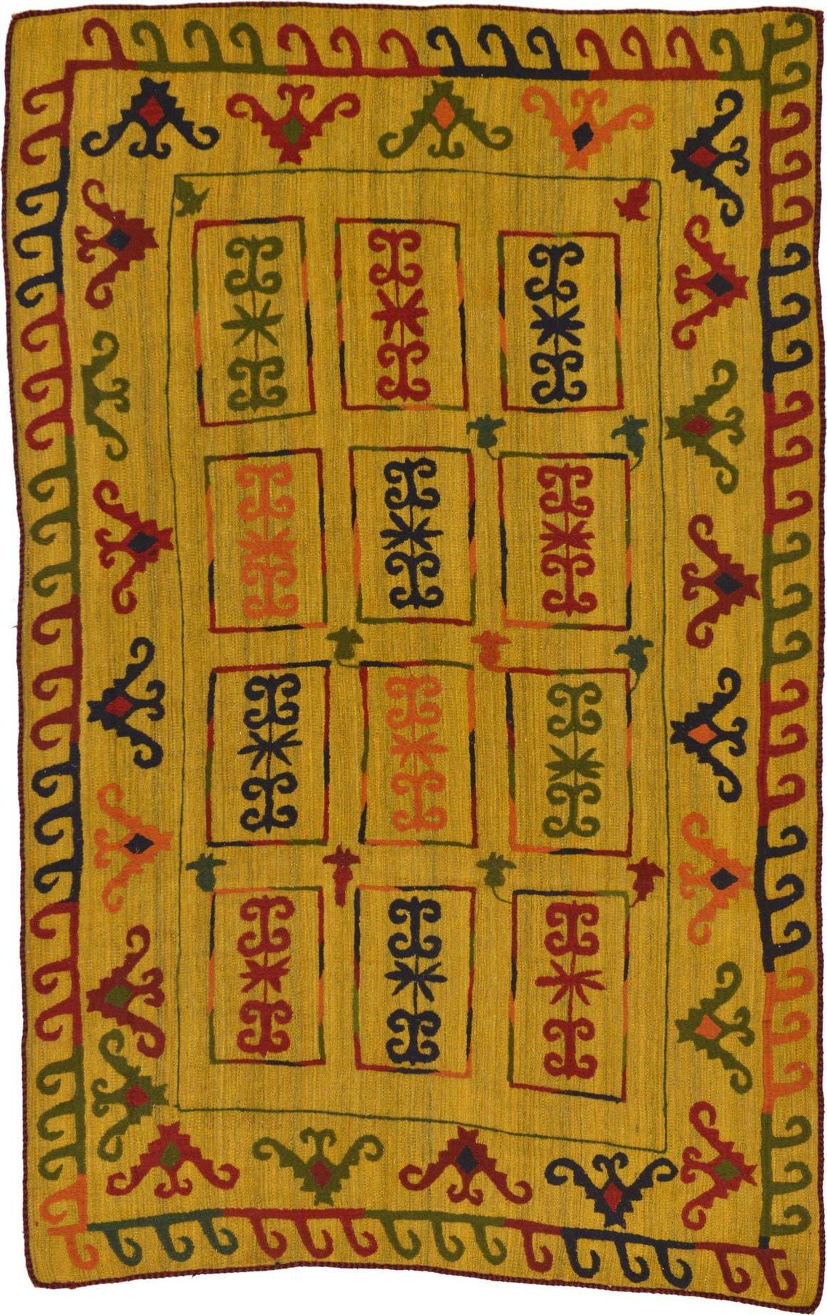 6' x 9' 7 Kilim Suzani Rug main image