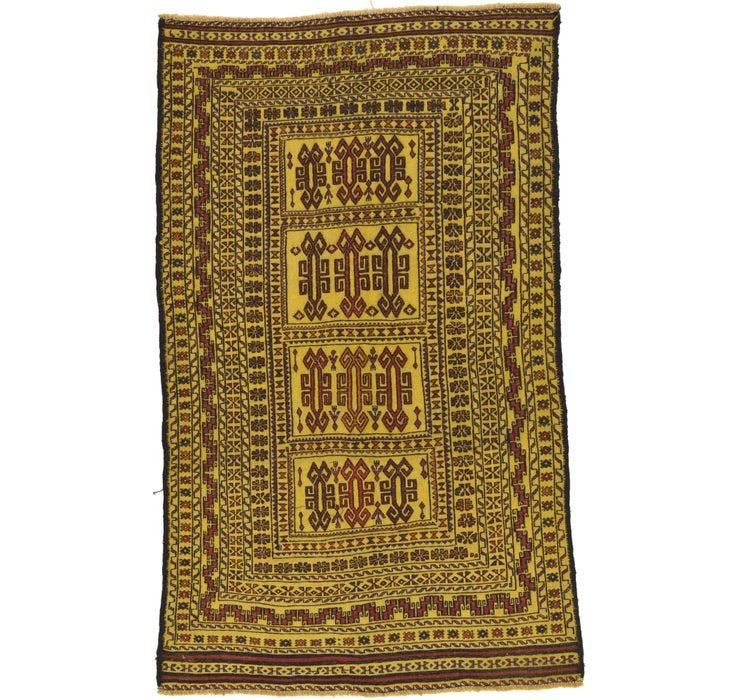 3' 10 x 6' 5 Kilim Afghan Rug