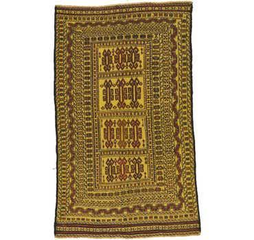 Image of 3' 10 x 6' 5 Kilim Afghan Rug