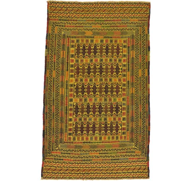 3' 8 x 6' Kilim Afghan Rug