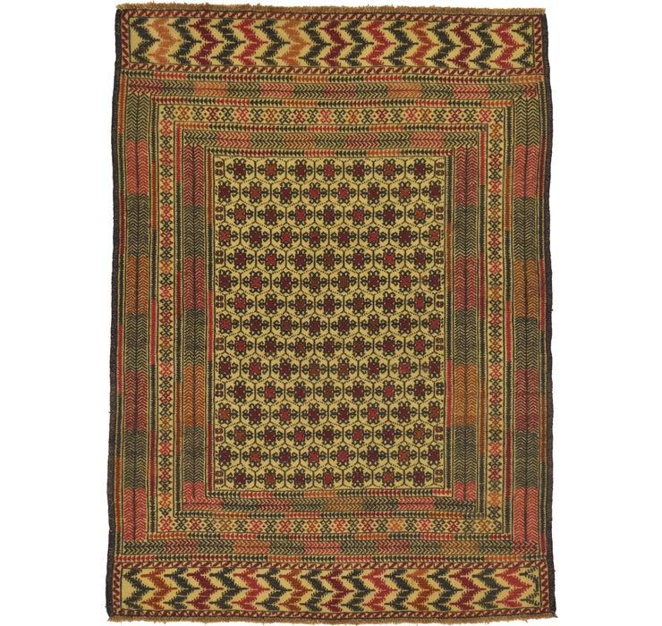 4' 6 x 6' 2 Kilim Afghan Rug