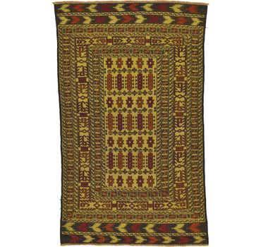 3' 9 x 6' 2 Kilim Afghan Rug