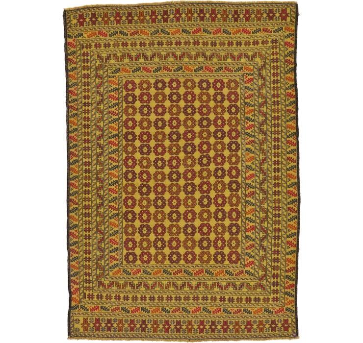 4' 5 x 6' 4 Kilim Afghan Rug