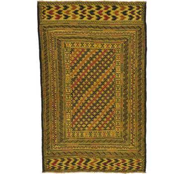 4' 2 x 6' 8 Kilim Afghan Rug