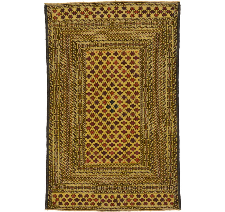 130cm x 198cm Kilim Afghan Rug