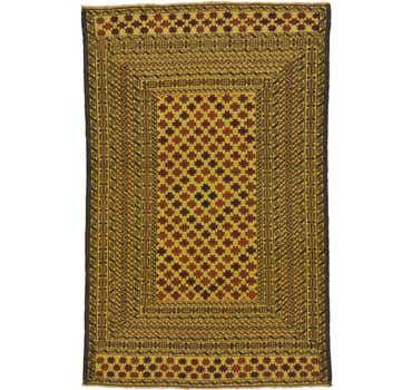 Image of 4' 3 x 6' 6 Kilim Afghan Rug