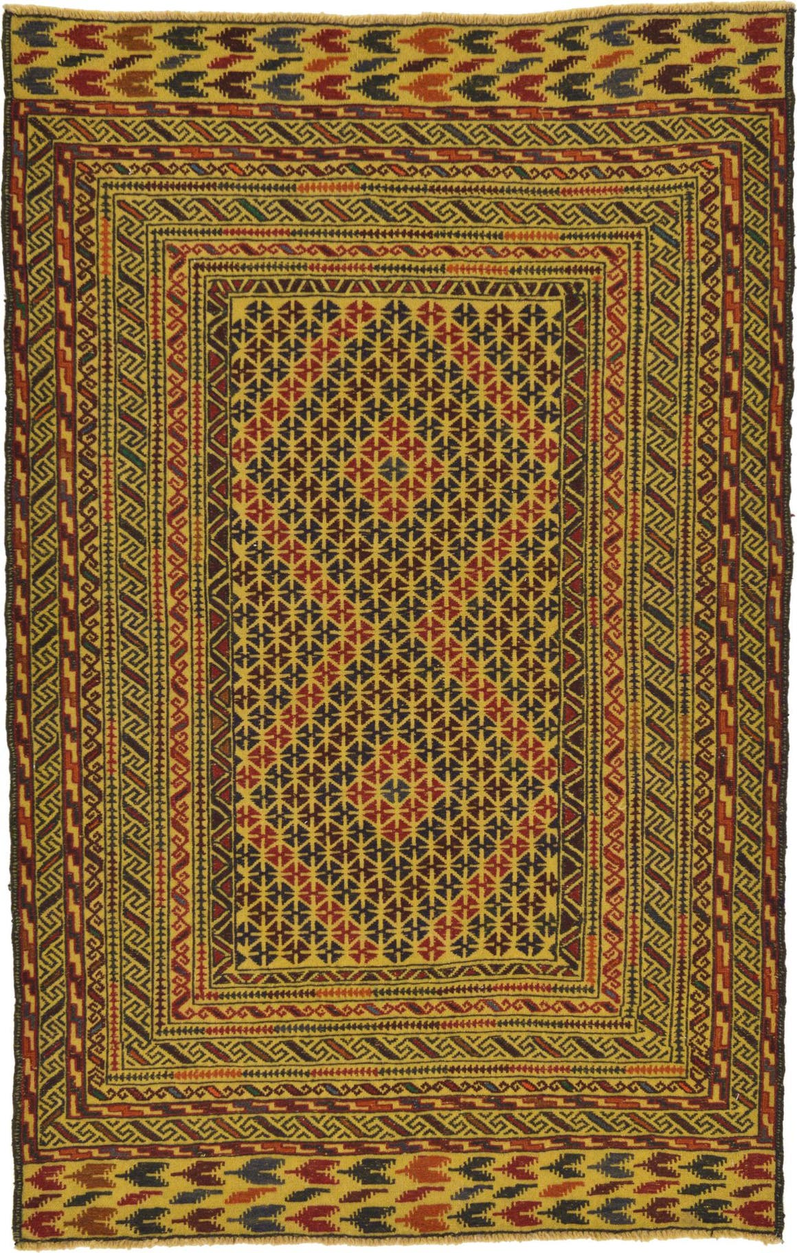 4' 4 x 6' 8 Kilim Afghan Rug main image