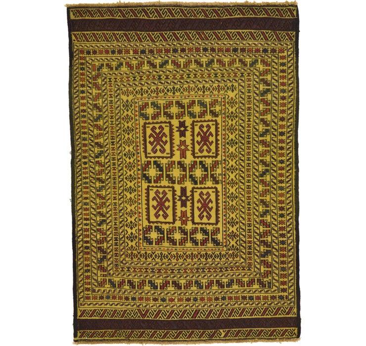 4' 2 x 6' 2 Kilim Afghan Rug