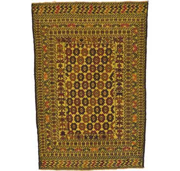 Image of 4' 4 x 6' 3 Kilim Afghan Rug