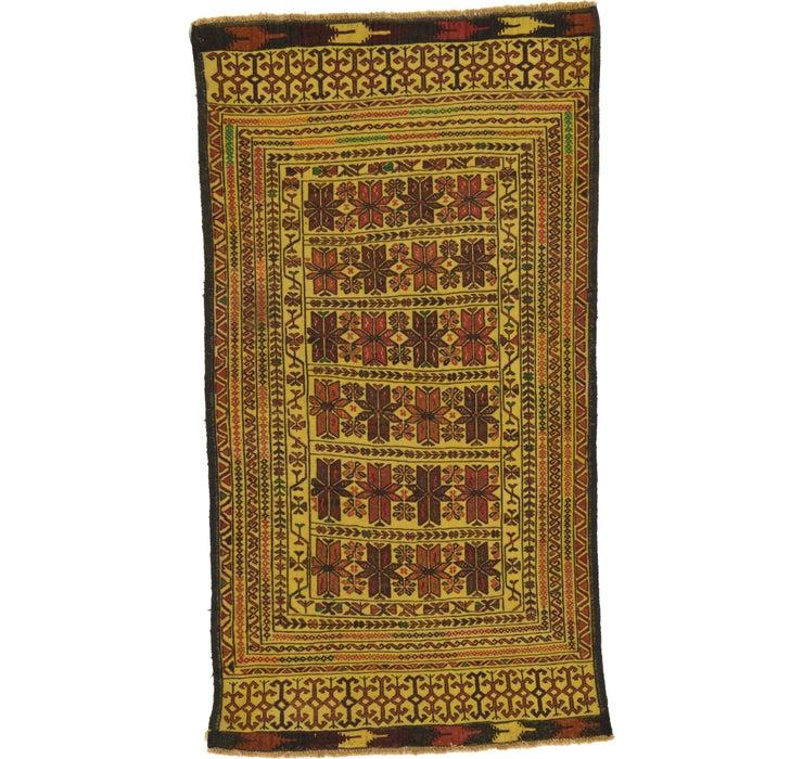 3' 8 x 6' 8 Kilim Afghan Rug