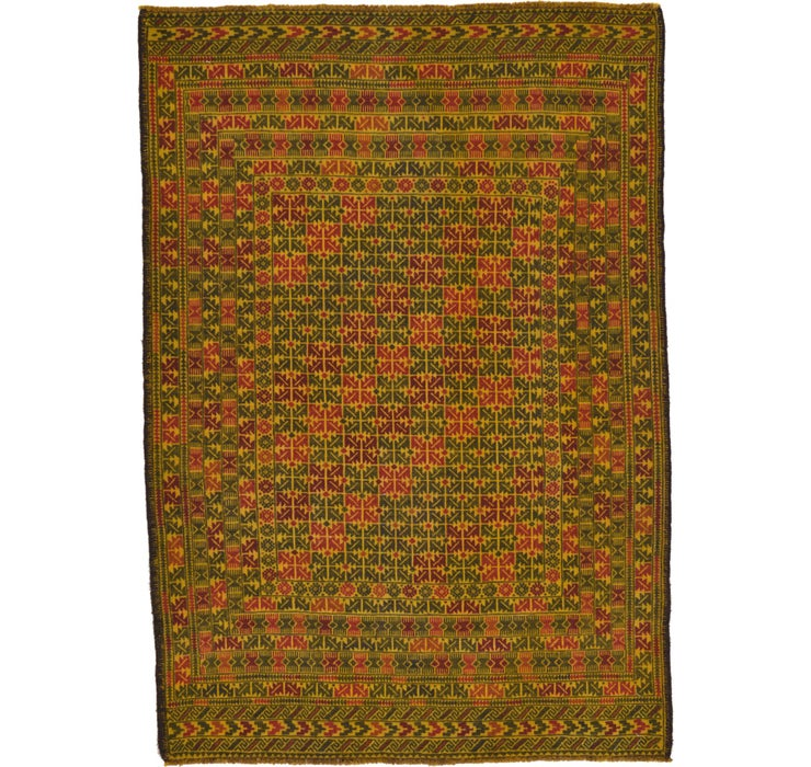 132cm x 190cm Kilim Afghan Rug