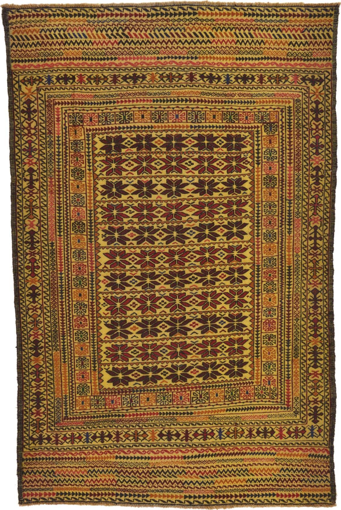 4' 3 x 6' 6 Kilim Afghan Rug main image