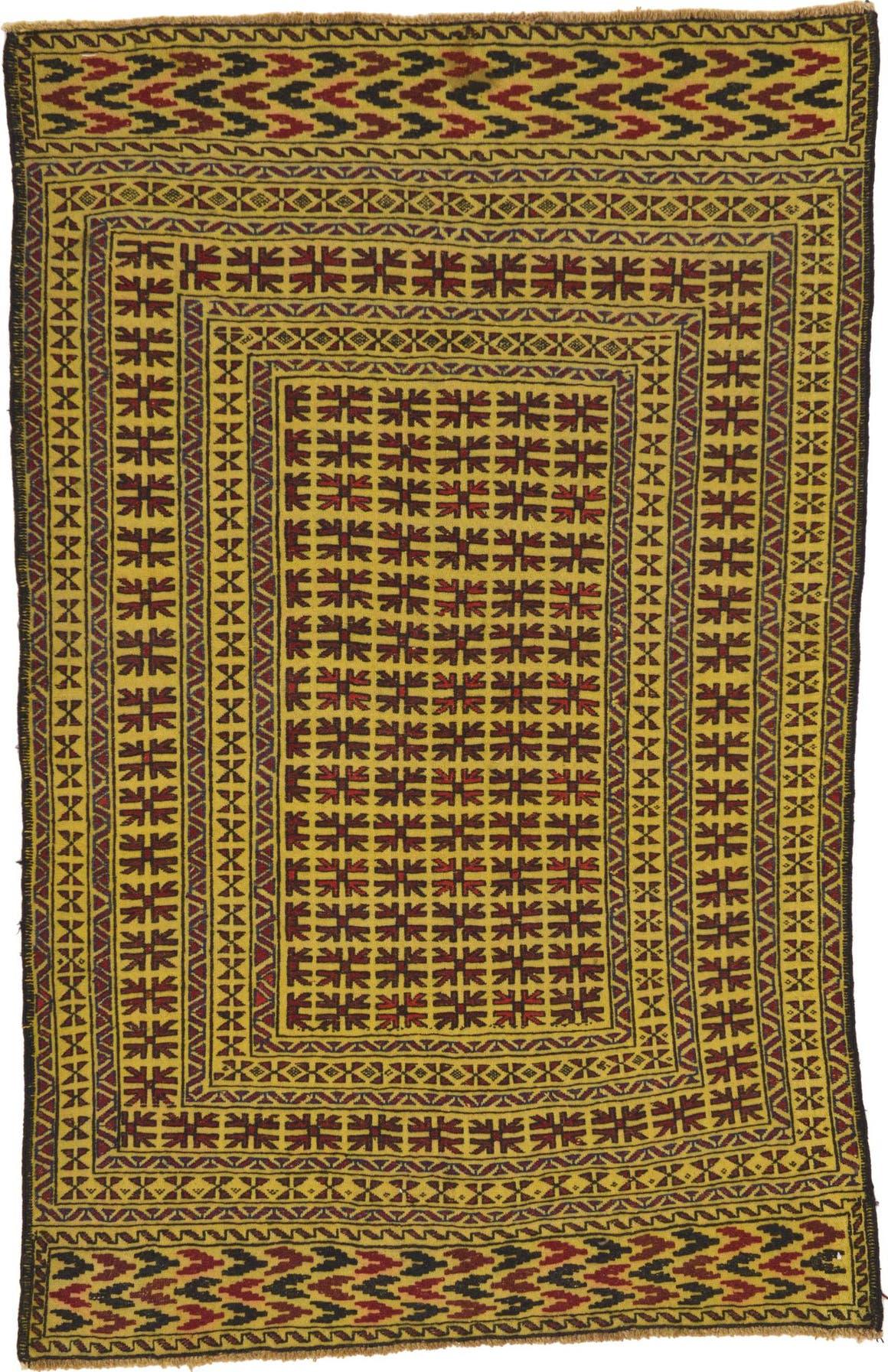 4' 2 x 6' 6 Kilim Afghan Rug main image