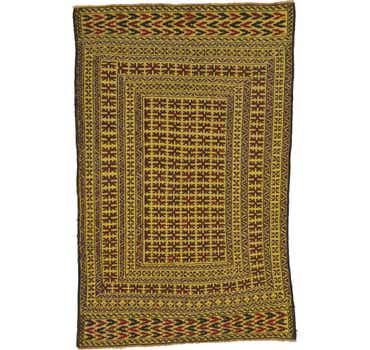 Image of 4' 2 x 6' 6 Kilim Afghan Rug