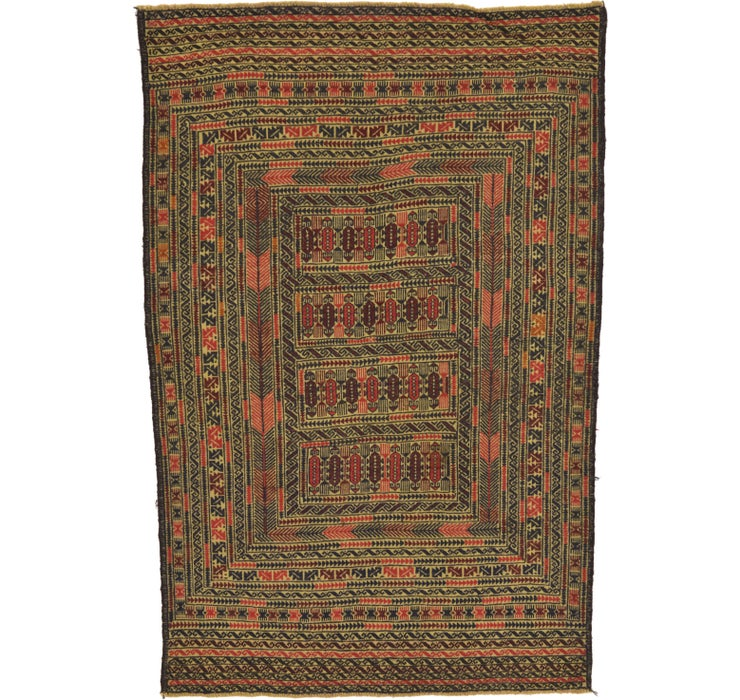 4' 5 x 6' 7 Kilim Afghan Rug