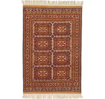 Image of 6' 9 x 10' 4 Afghan Mouri Oriental Rug