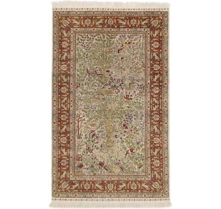90cm x 152cm Hereke Oriental Rug