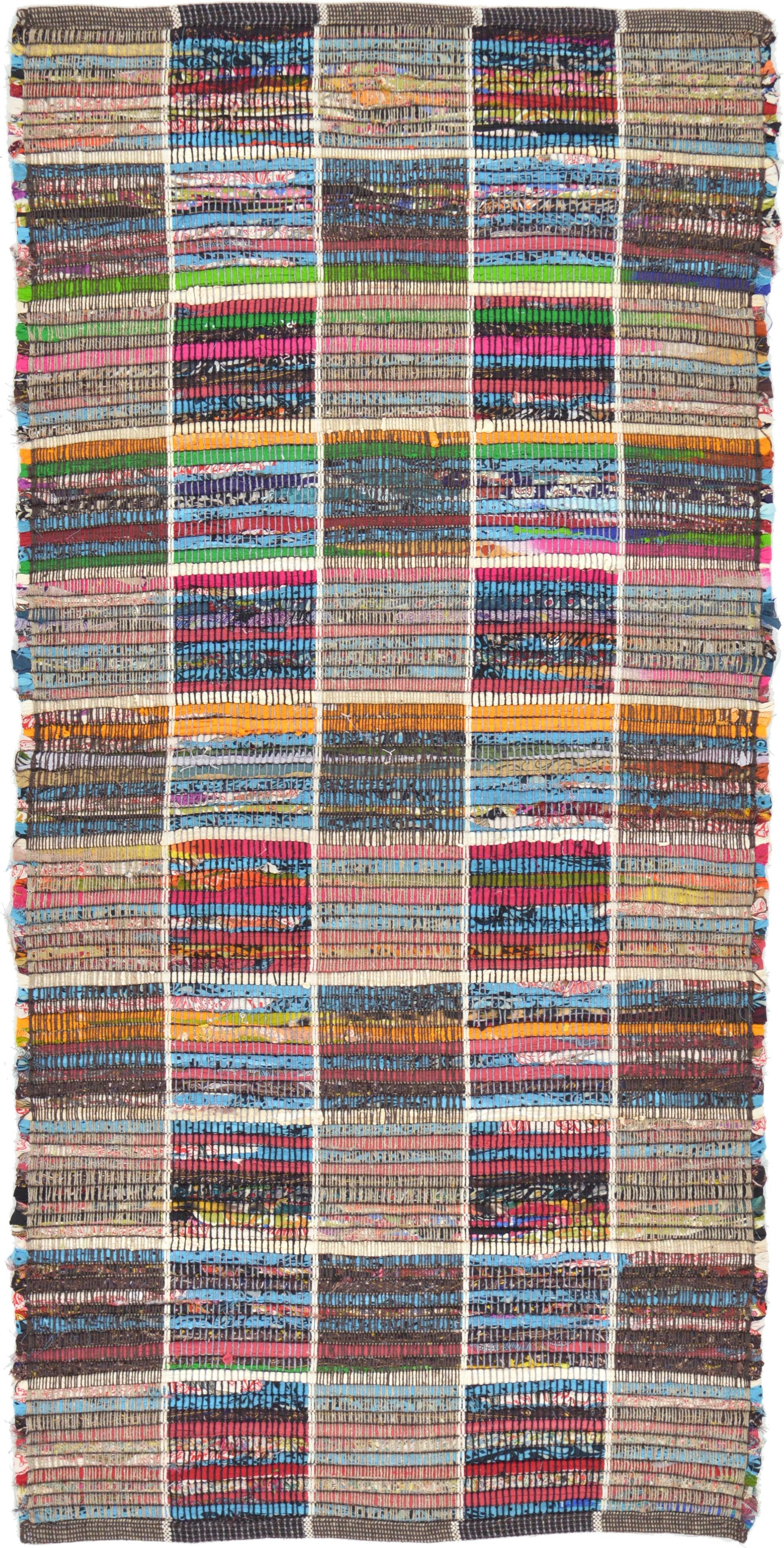 Multicolor 70cm X 145cm Kilim Dhurrie Rug Au Rugs