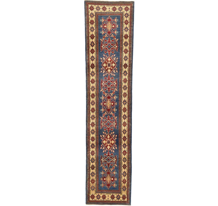 80cm x 343cm Kazak Oriental Runner Rug