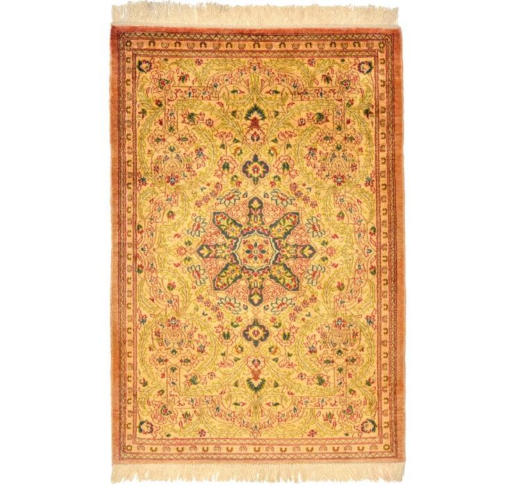 55cm x 80cm Qom Persian Rug