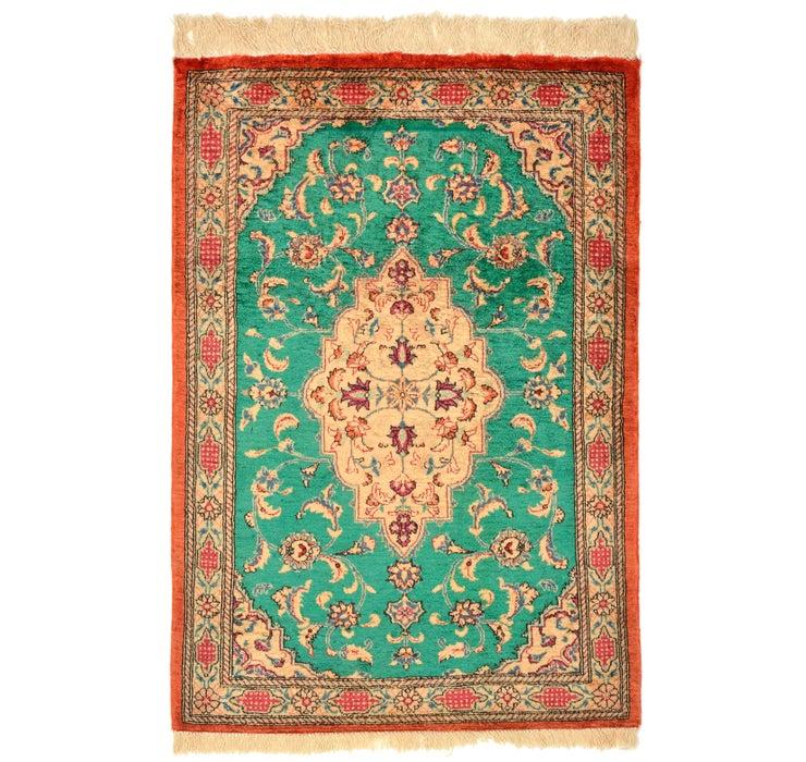 53cm x 80cm Qom Persian Rug