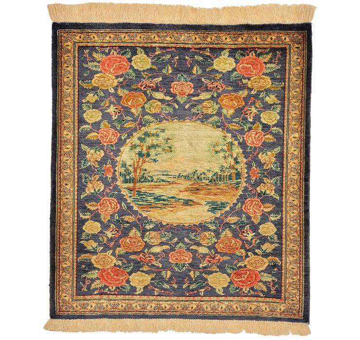 60cm x 70cm Qom Persian Square Rug