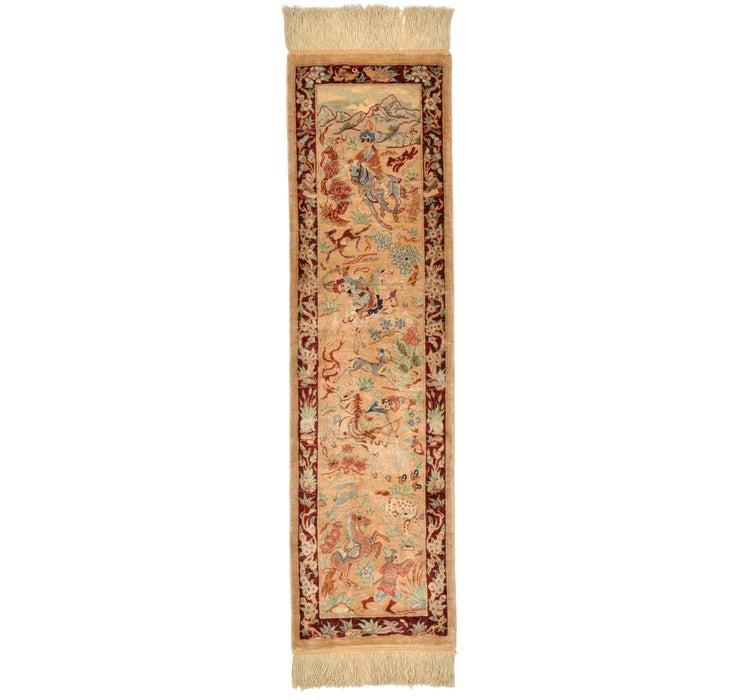 23cm x 85cm Qom Persian Runner Rug