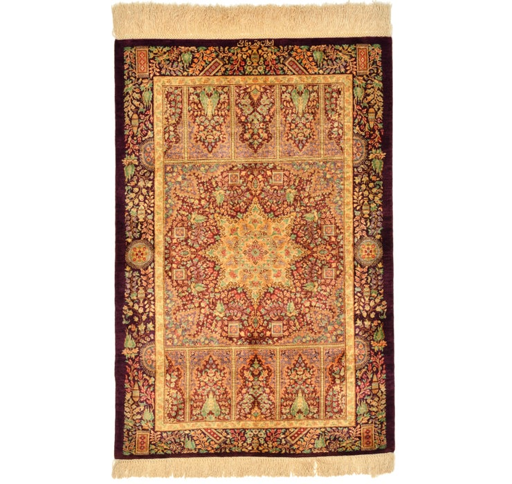58cm x 90cm Qom Persian Rug