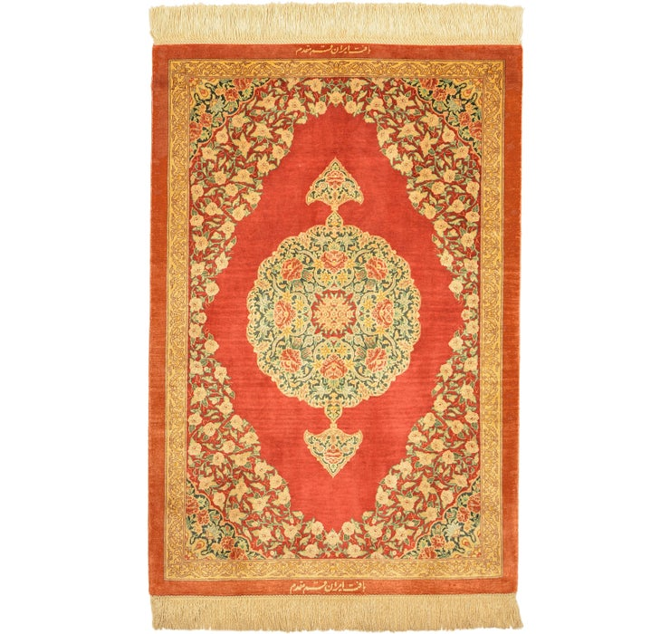65cm x 95cm Qom Persian Rug