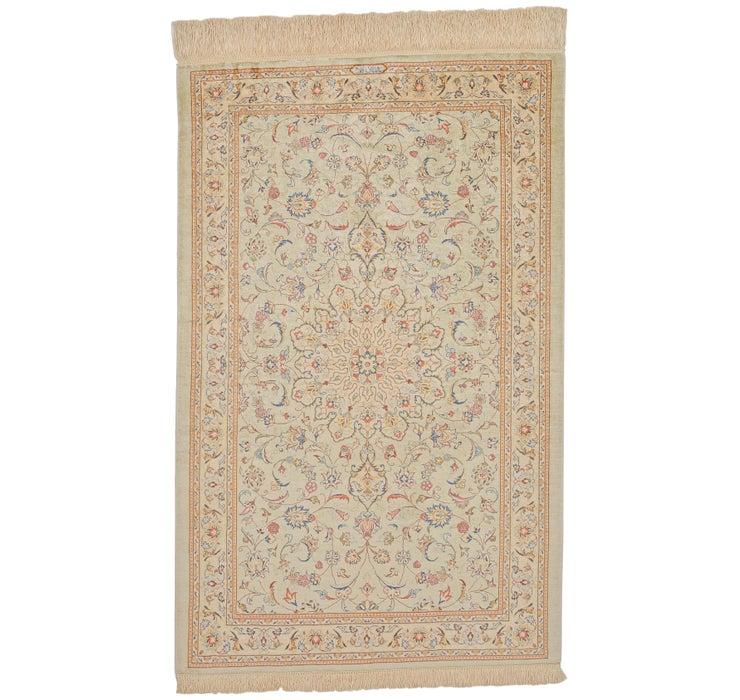 75cm x 117cm Qom Persian Rug