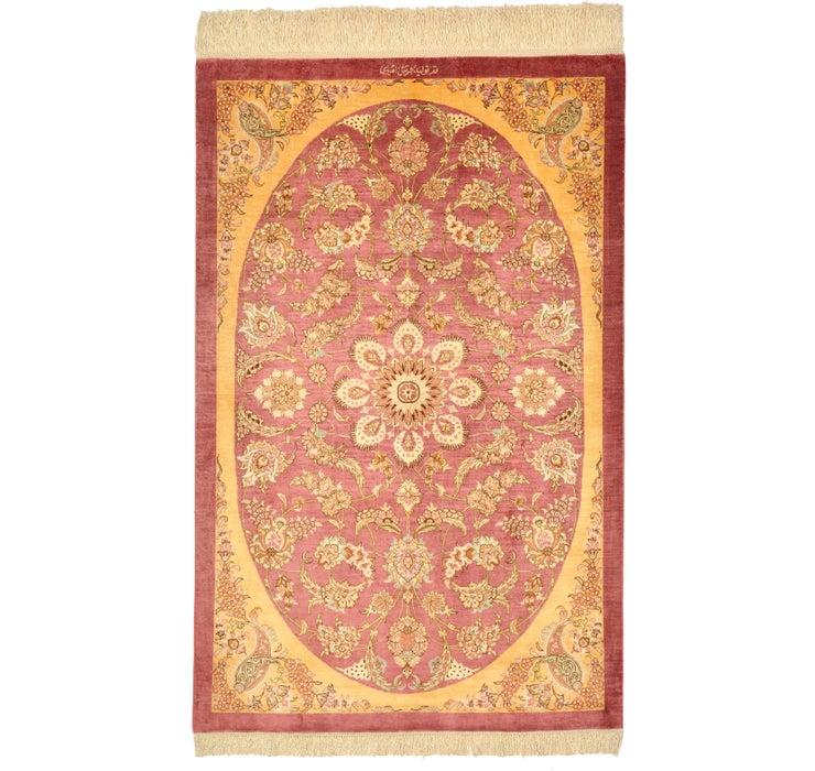 80cm x 117cm Qom Persian Rug