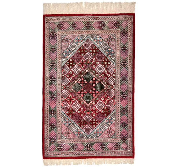 80cm x 127cm Qom Persian Rug