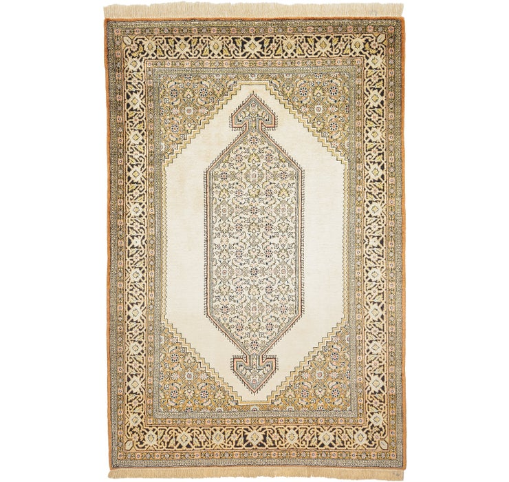 105cm x 155cm Qom Persian Rug