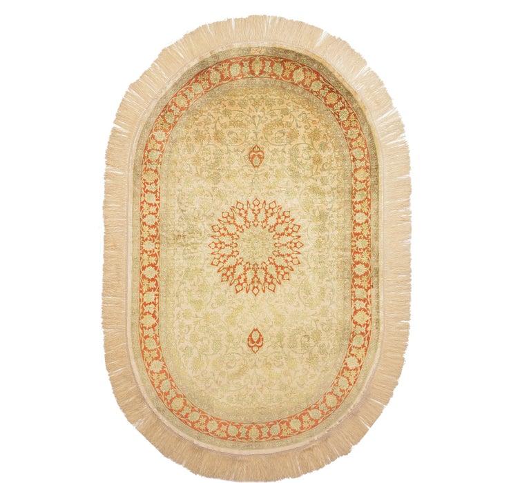 3' 1 x 5' Qom Persian Oval Rug