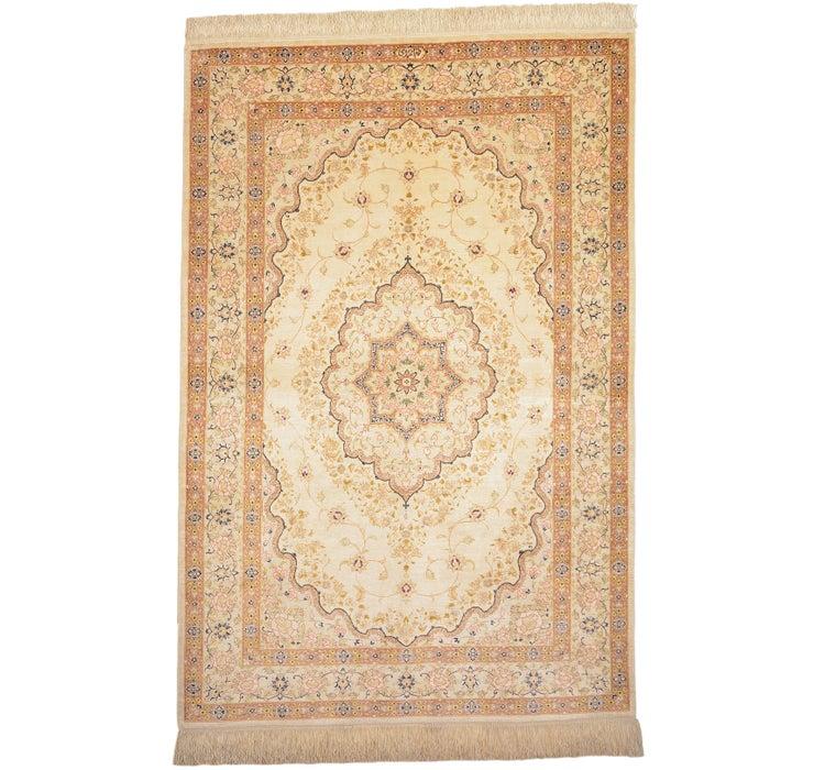 3' 3 x 4' 11 Qom Persian Rug