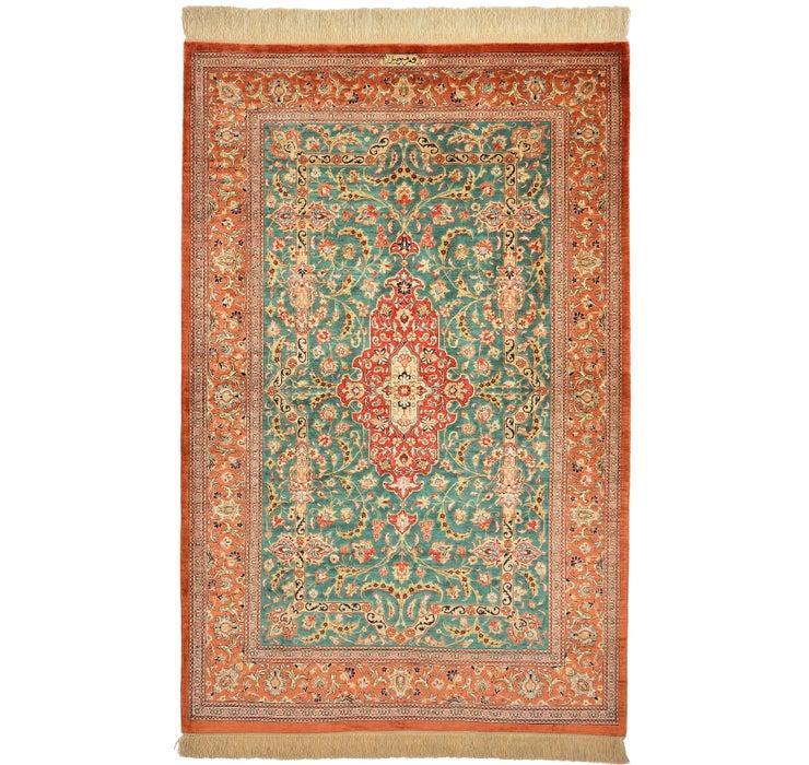 102cm x 157cm Qom Persian Rug