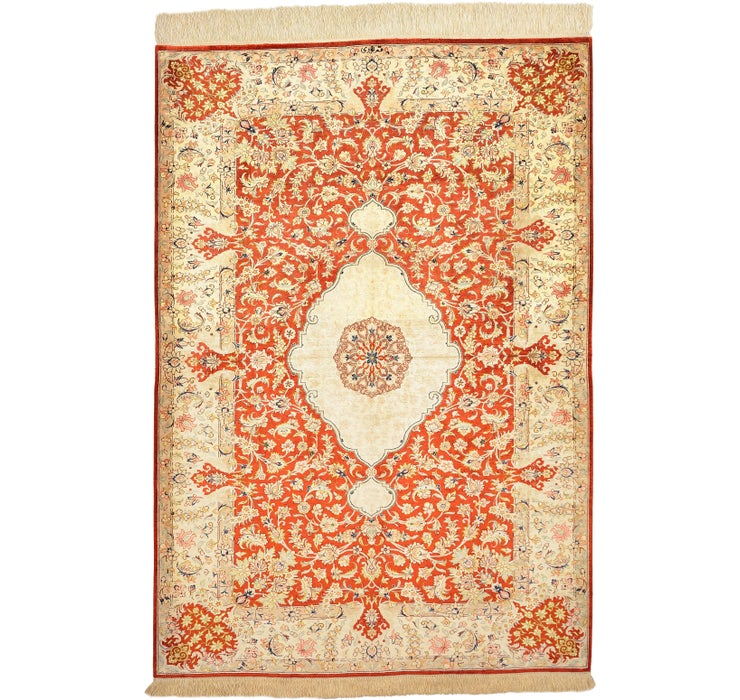 Image of 105cm x 150cm Qom Persian Rug