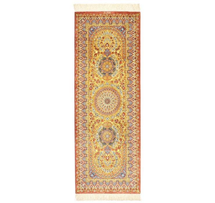 65cm x 185cm Qom Persian Runner Rug