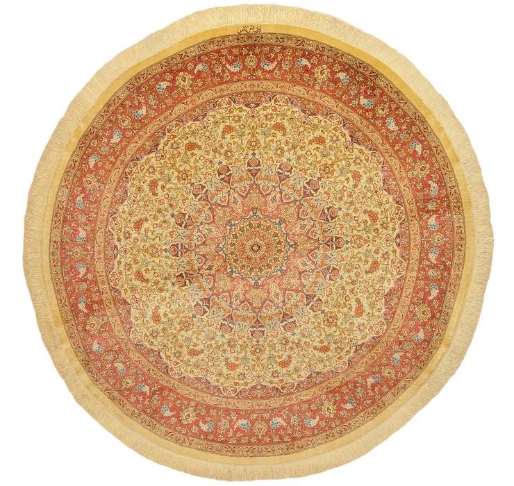 4' 9 x 4' 9 Qom Persian Round Rug