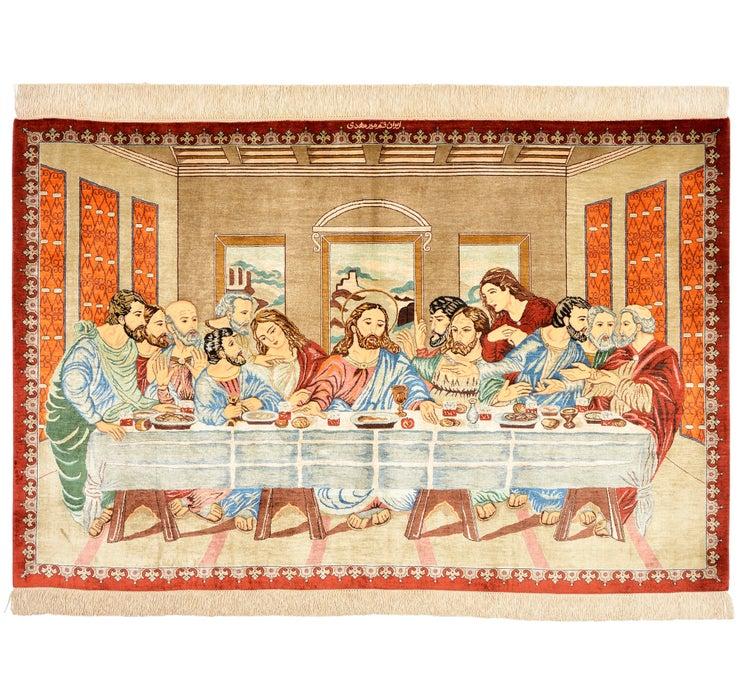 100cm x 150cm Qom Persian Rug