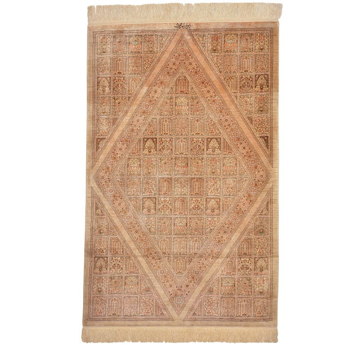 3' 3 x 5' 2 Qom Persian Rug