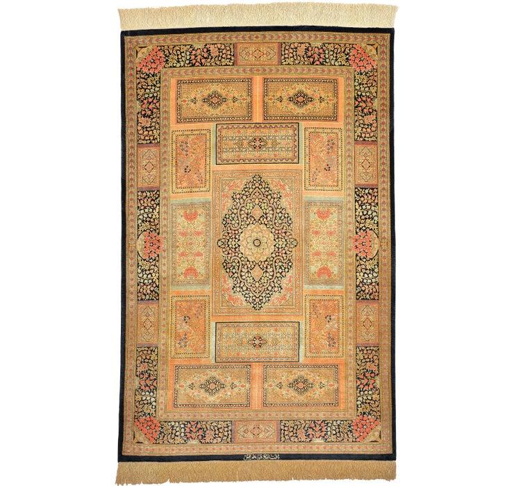 100cm x 155cm Qom Persian Rug