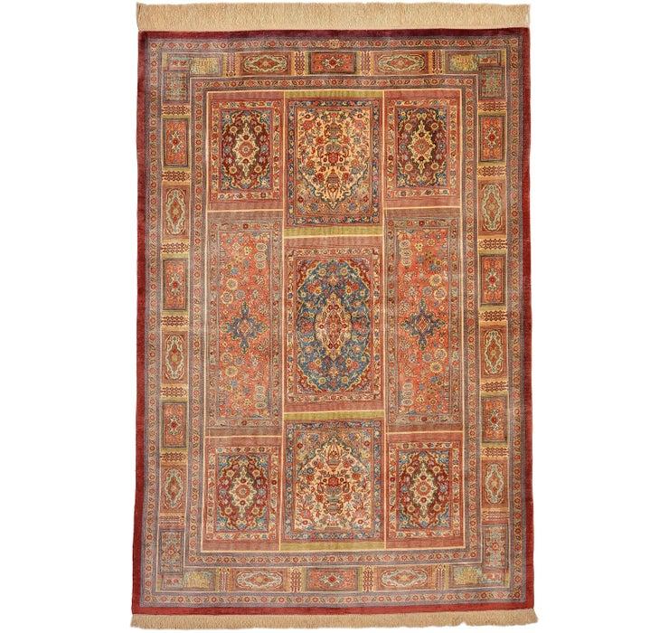 105cm x 150cm Qom Persian Rug