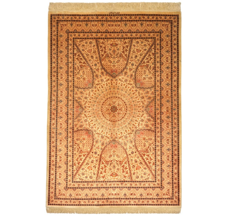 Image of 135cm x 198cm Qom Persian Rug