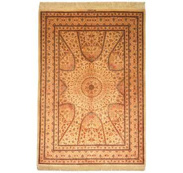 Image of 4' 5 x 6' 6 Qom Persian Rug