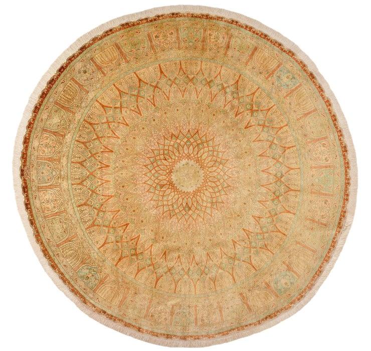 6' 5 x 6' 5 Qom Persian Round Rug