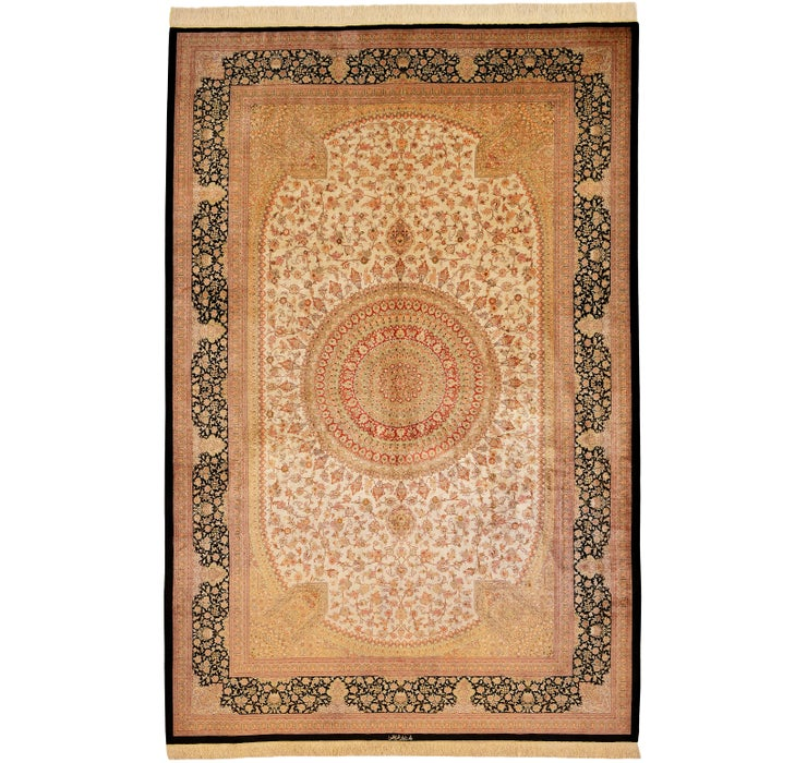 198cm x 302cm Qom Persian Rug