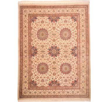 Image of 9' 7 x 12' 11 Qom Persian Rug