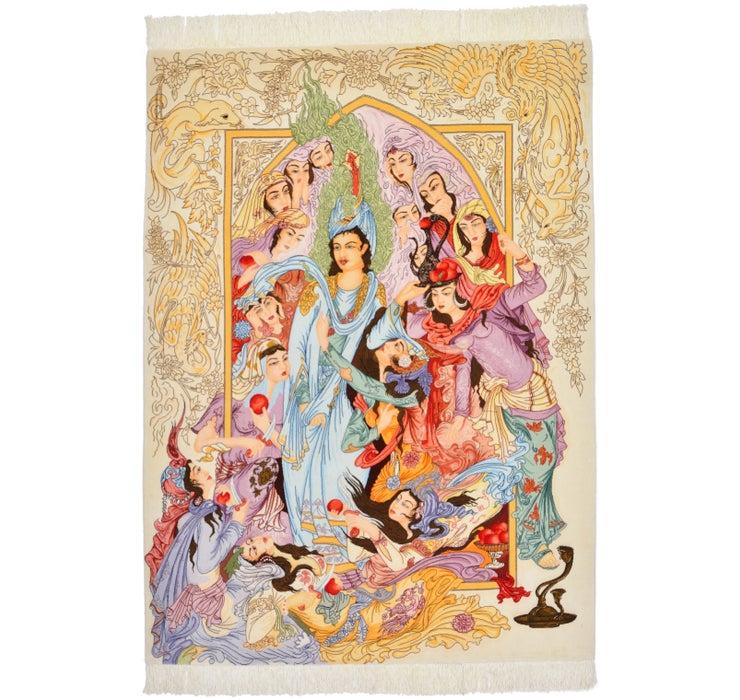 150cm x 205cm Tabriz Persian Rug