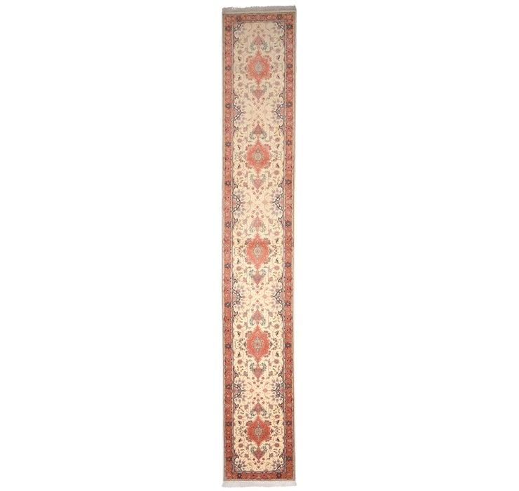 80cm x 513cm Tabriz Persian Runner Rug